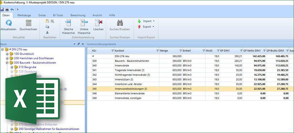 Din 276 Kostenschatzung Und Berechnung In Der Ava Software